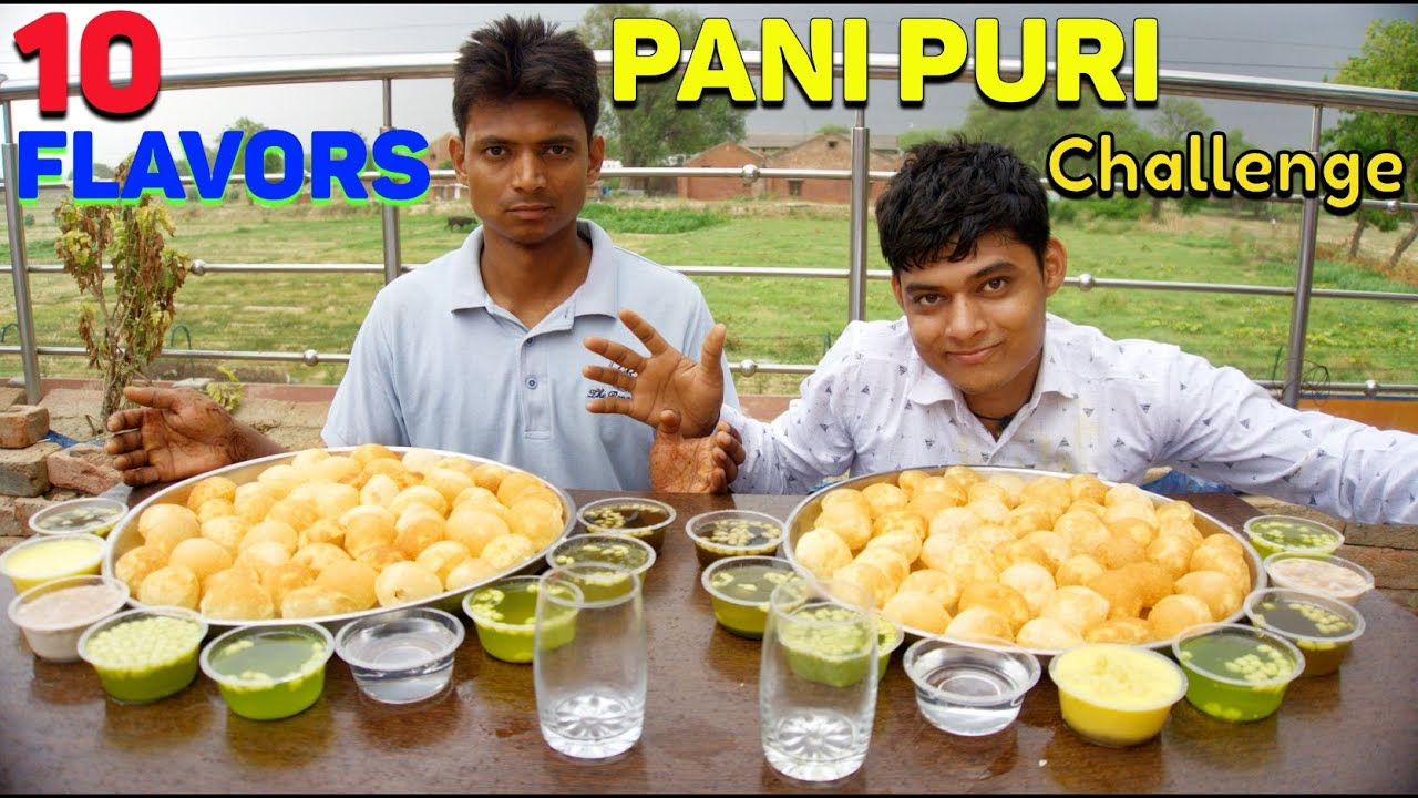 10 Different Flavoured Pani Puri/Golgappa Eating Challenge | New Flavoured  Golgappa Challenge