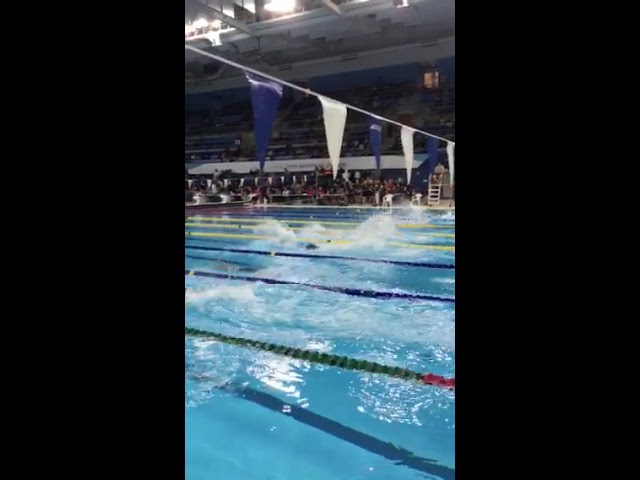 OFSAA swimming 2019, Jun Park, St. David, Waterloo, Ontario