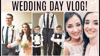WEDDING DAY VLOG SPECIAL!✨    Twin Ring Bearers, Maid of Honor, Groomsman   How to DIY a Wedding! thumbnail