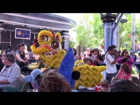 Disneyland California Adventure Shanghai Celebration Day 2016 - Lion Dance
