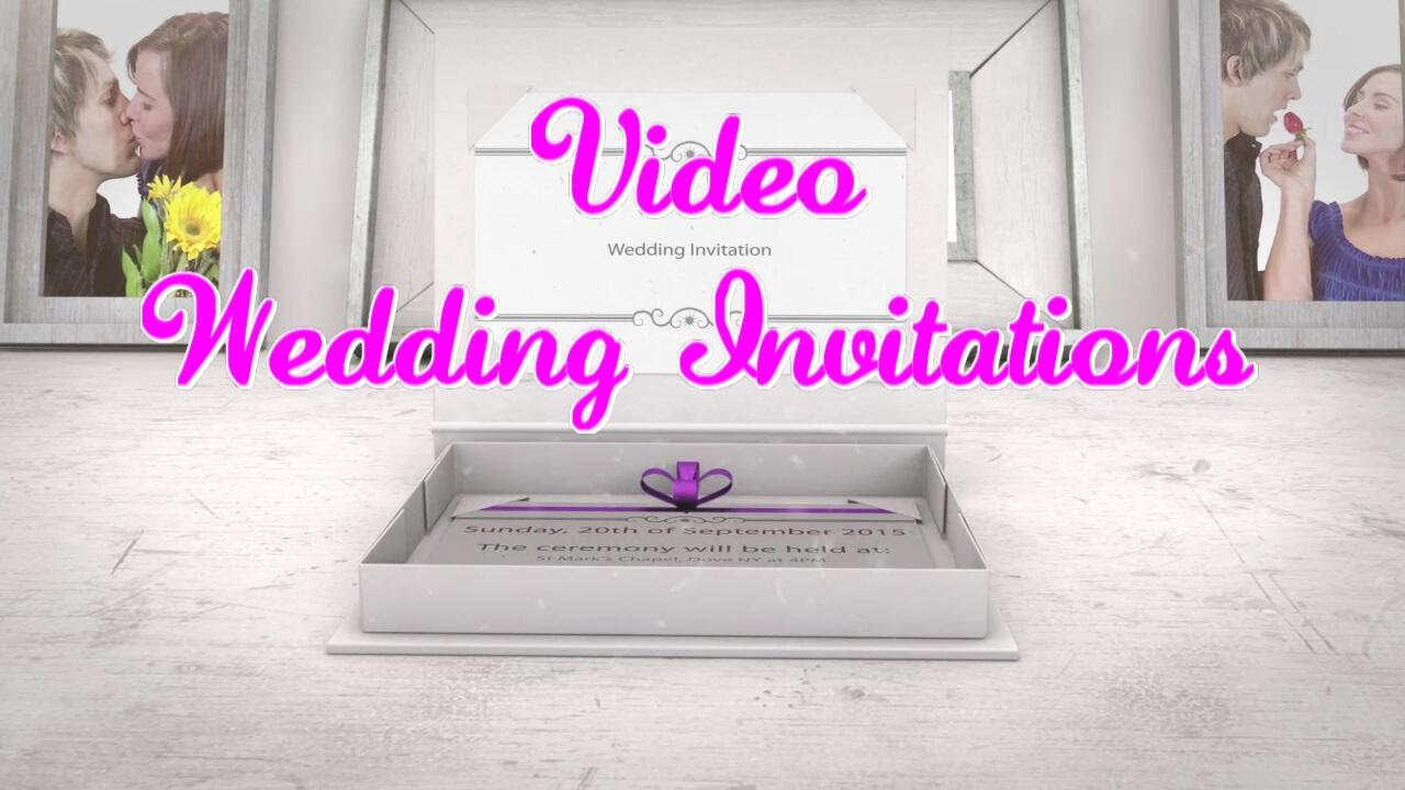 Unique Wedding Invitations - Create Amazing Video Party Invitations ...