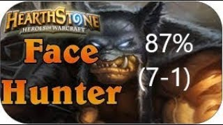 (Hearthstone) Blackscarabs Face Hunter (7-1) 87% win rate | Kobolds and Catacombs