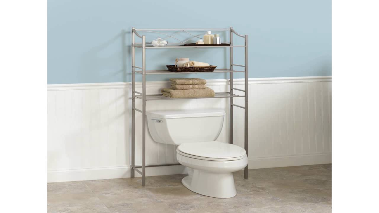 finish chrome bathroom savers mainstays shelf com saver space dp amazon