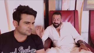 Sanjay Dutt  makes fun of Ajay Devgan !! Funny!!