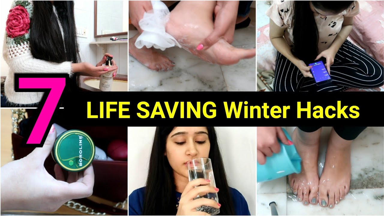 7 Smart Life Hacks For WINTERS | Weight Loss Hacks, Beauty Hacks, Makeup Tips |