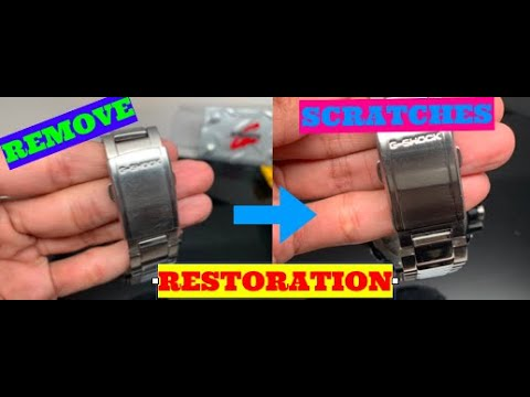 Remove Scratches and Polish Your Stainless Steel G-Shock