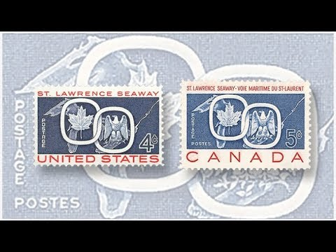 The Story Of The St. Lawrence Seaway US - Canada Commemorative Joint Issue Stamp 1959