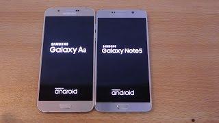 samsung galaxy note 5 vs galaxy a8 speed test hd