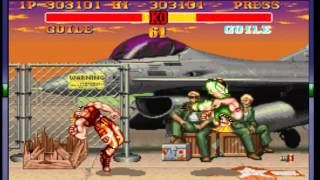 Street Fighter II Turbo - Hyper Fighting - -Guile Vs Guile Epic battle- Vizzed.com GamePlay - User video