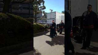 両国国技館 大相撲初場所 九日目 前頭四枚目 栃煌山の場所入りの様子.
