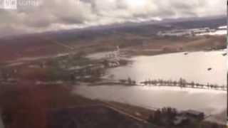 Ilmakuvaa Kauhajoen tulvista