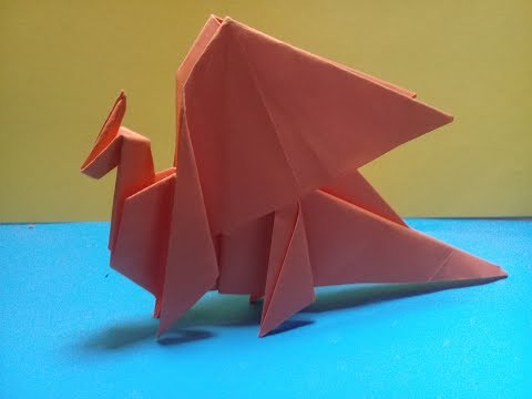 How to make origami dragon paper