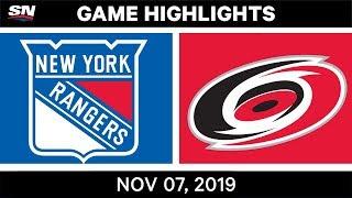NHL Highlights   Rangers vs. Hurricanes – Nov. 07, 2019