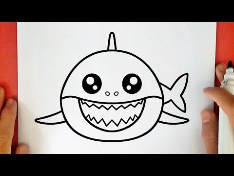 como-dibujar-a-baby-shark-kawaii