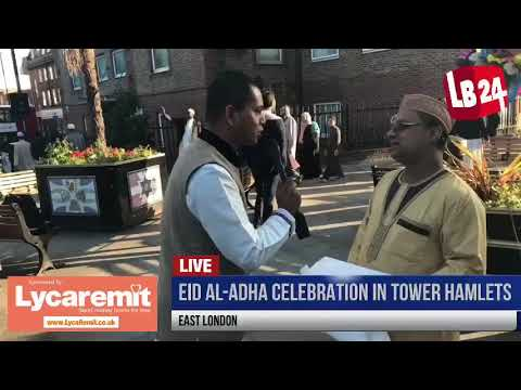 Eid Al Adha celebration 2017 in Tower Hamlets, East London.