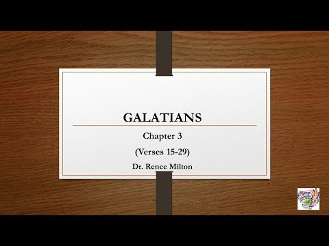 Galatians 3: 15-29 We Are All Children of Abraham