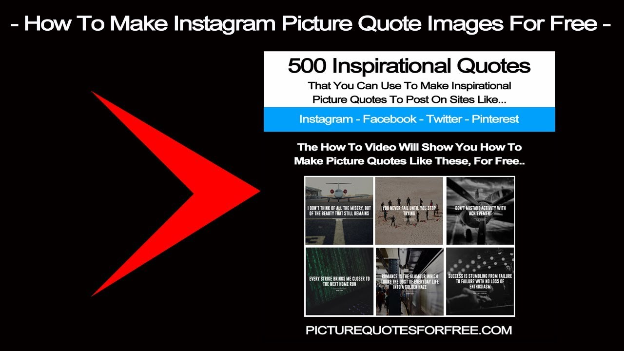 How To Make Instagram Picture Quote Images For Free 500 Free Pdf