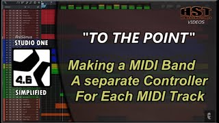 Making a MIDI Band - Studio One Simplified