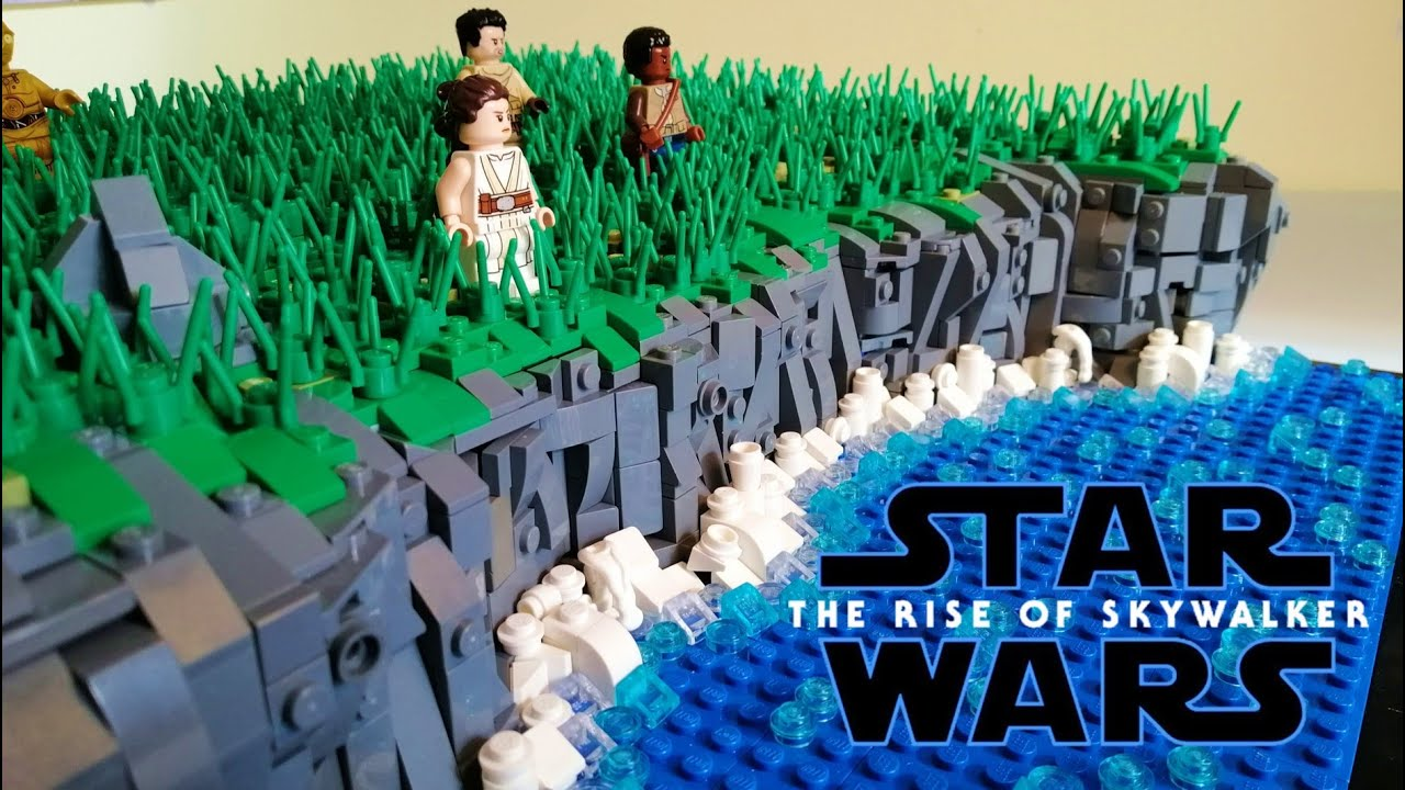 Lego Star Wars The Rise Of Skywalker Moc Cinematic Showcase Looking At The Death Star Ruins Youtube
