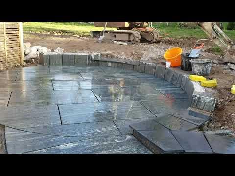 Granite Patio From Start To Finish