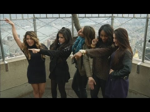 Fifth Harmony celebrate US chart success on top of the Empire State Building