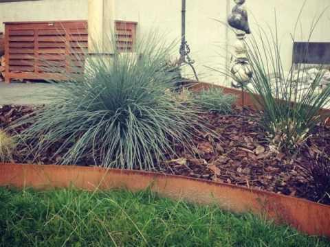 rasenkanten, beeteinfassungen und umrandungen metall, Garten ideen