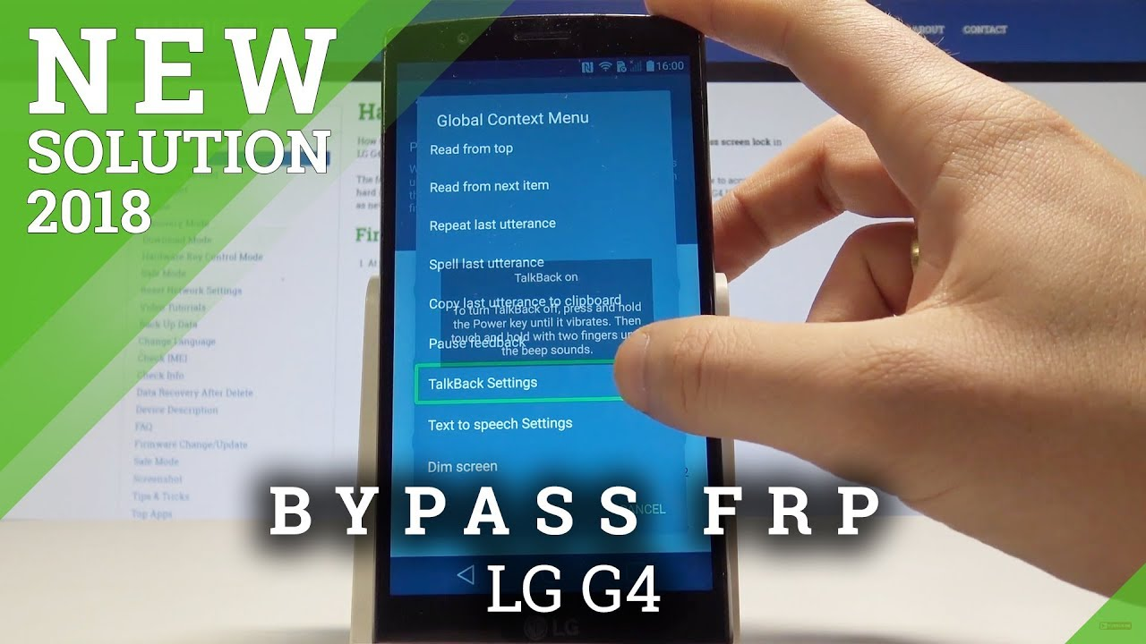 How to bypass Google Account protection in LG G4 H815 phone