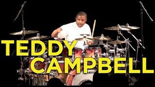 Teddy Campbell - American Idol Drummer in Clinic at Memphis Drum Shop - Song 4 - Drum Solo