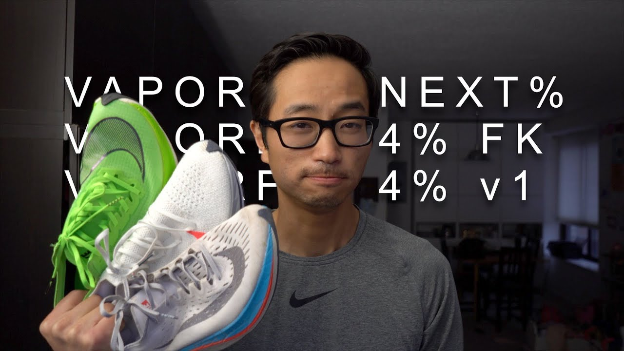 9684ede70ceed Vaporfly Next % vs. Vaporfly 4% Flyknit vs. Vaporfly 4% - YouTube