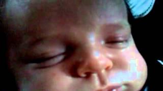 baby Aidric snoring at 4 weeks