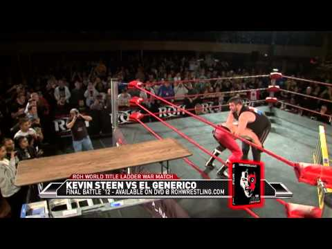 KEVIN STEEN VS EL GENERICO LADDER WAR (FINAL ROH MATCH)