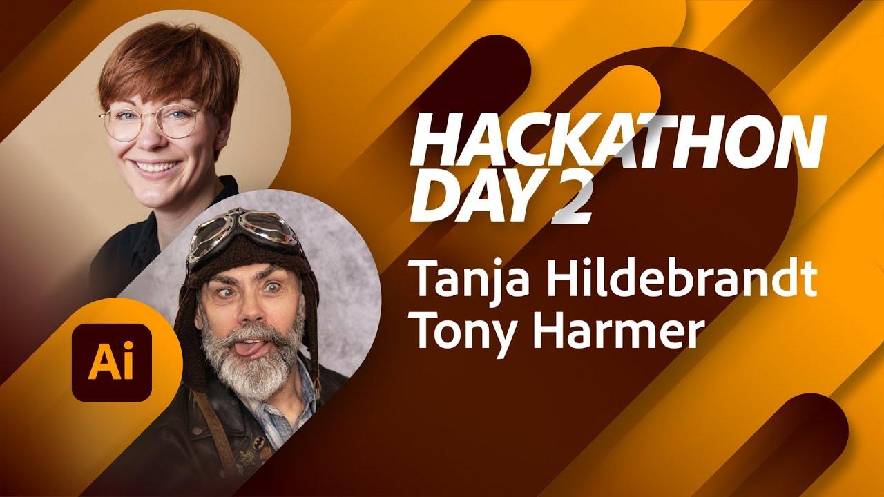 Branding Hackathon with Tanja Hilebrandt and Tony Harmer - Day 2 | Adobe Live