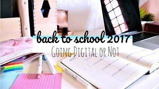Back to School 2017 #1 // Going Digital or Not - Notetaking, Planners and Calendars and MUCH MORE!
