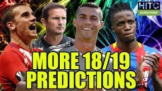 MORE 2018/19 Predictions Including The Championship, La Liga & The Champions League