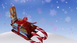 как сделать сладкие сани из конфет на НГ своими руками