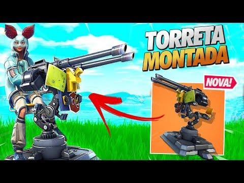 APELONA?! *NOVA* TORRETA MONTADA - FORTNITE thumbnail
