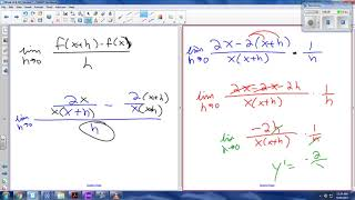 AP Calc - 2.1 - Equation of a tan line & Def of derivative