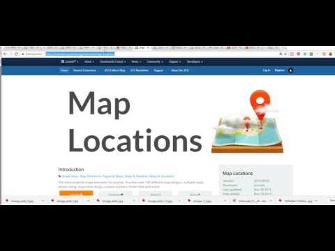 Joomla: Modul A Komponenta Map Locations