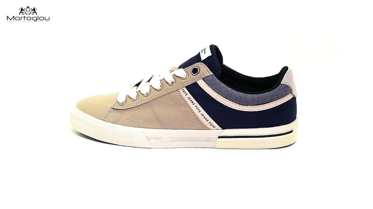 3a33dfa6012 Pepe Jeans Ανδρικά Παπούτσια Casual North.Half Μπεζ Ύφασμα