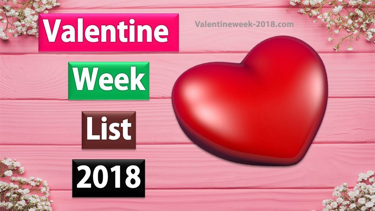 Valentine Week List 2018 Day Dates Schedule / Date Sheet / Timetable  Calendar / Valentine Week 2018