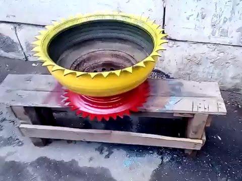 Тюнинг колеса ВАЗ (клумба из колеса)