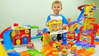 Гигантский Трек с машинками Vtech / Интерактивные машинки для детей