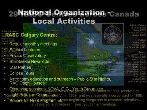 About the Calgary Centre of the Royal Astronomical Society of Canada