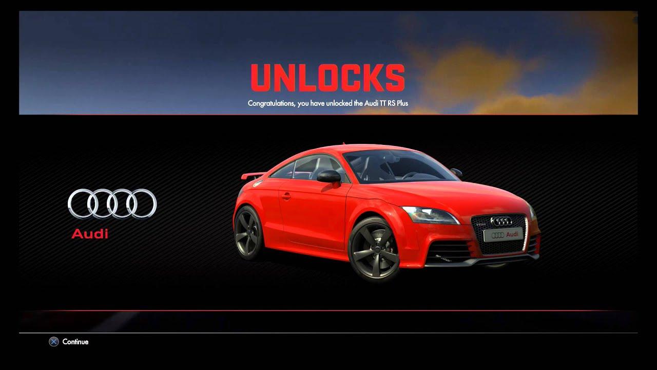 Driveclub Audi TT RS Plus Unlocked Along With A Few Paint Jobs - Audi car jobs