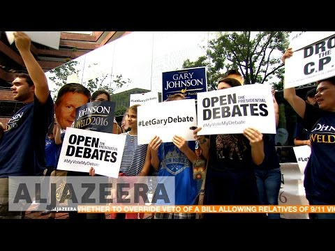 US election: Third party candidates supporters react to first debate