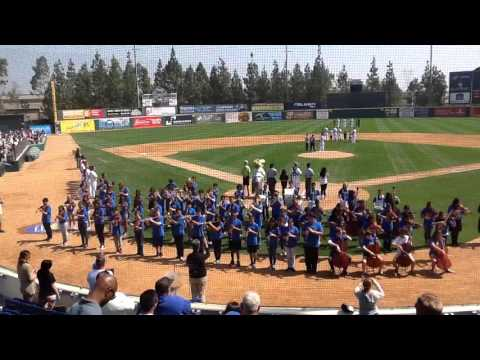 Santa Fe Middle School plays National Anthem at the Quakes Game