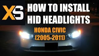 DIY HID Xenon Install: 2006 Honda Civic