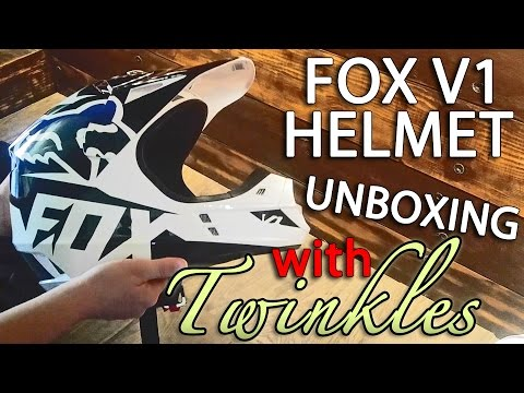 Fox Racing V1 Helmet Review Part 1 - Unboxing and First Impressions with Twinkles