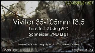 vivitar 35 105 3 5 vintage zoom lens test on 60d shooting 720p60 slow motion