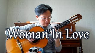"""""""woman in love"""" is a popular song performed by barbra streisand from her 1980 album, guilty. the was written barry and robin gibb of bee gees. pl..."""